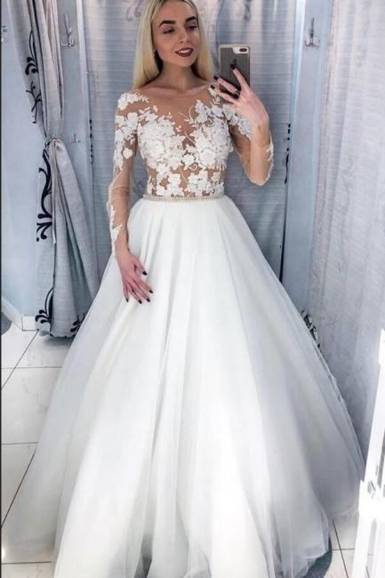 Schöne Brautkleider Mit Ärmel | Hochzeitskleider für Kleine Frauen