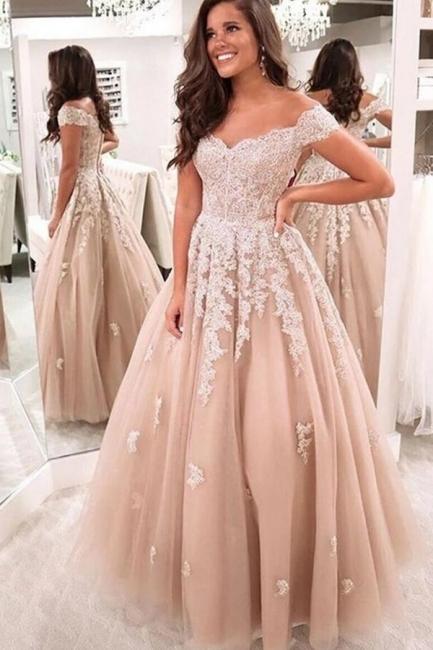 Elegante Abendkleider mit Spitze | Abiballkleider Abendmoden Online