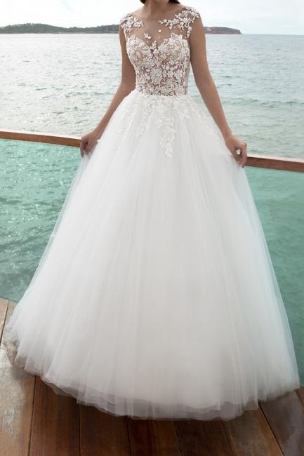 Wunderschöne Brautkleider A Linie | Hochzeitskleid mit Ärmel