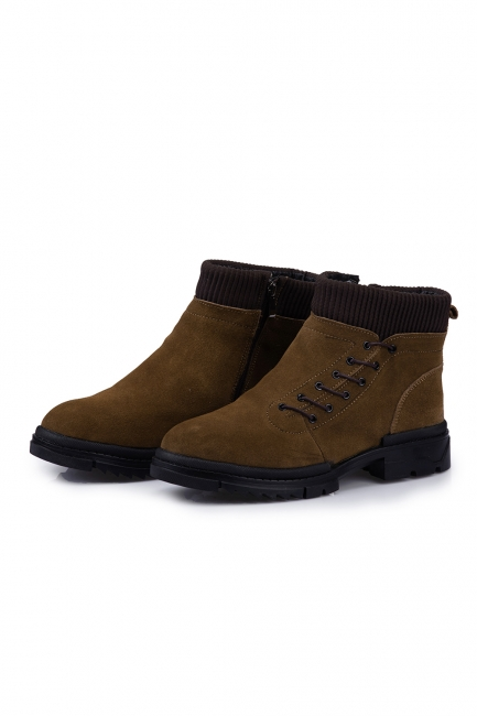 Suede boots combat boots | Winter boots combat boots