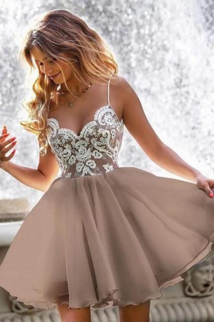 Designer cocktail dresses short | Simple evening dresses with lace