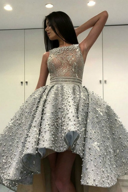 Luxury cocktail dresses with lace | Prom Dresses Short Front Long Back