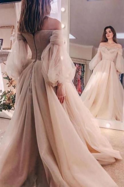 Beautiful wedding dress A line | Wedding dresses with sleeves