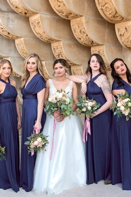 Stylish bridesmaid dresses long blue | Dresses for bridesmaids