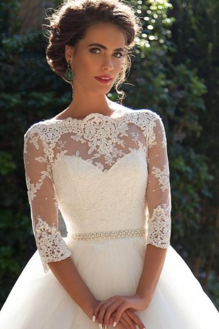Günstige Brautkleider Prinzessin | Hochzeitskleider Spitze Ärmel