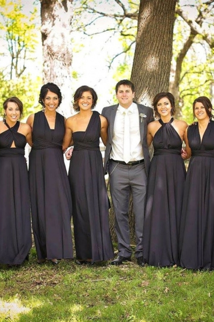 Bridesmaid Dresses Long Black | Sheath dresses for bridesmaids