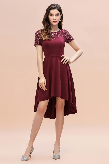 Cheap Cocktail Dresses Wine Red | Evening dresses short