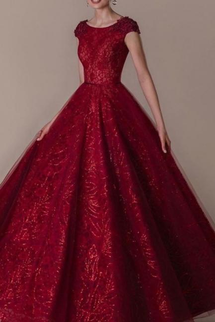 Rote Abendkleider Lang Glitzer | Abendmoden Online Kaufen