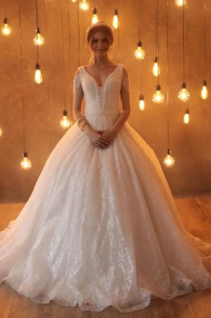 Designer wedding dresses princess | Wedding dresses glitter online