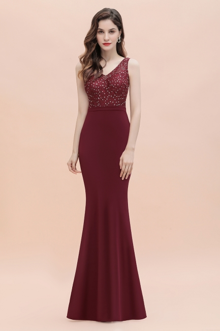 Elegante Abendkleider Lang V Ausschnitt | Abendmoden Online
