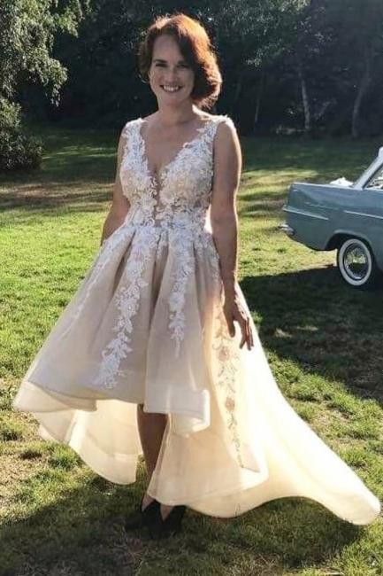 Designer Brautkleid V Ausschnitt | Hilo Hochzeitskleid A Linie Mit Spitze