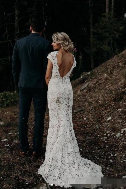 Schlichtes Meerjungfrauen Hochzeitskleid | Brautkleider Online Kaufen