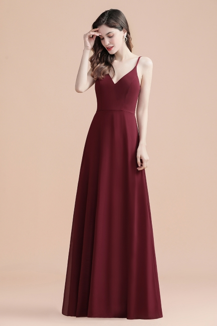 Evening dresses long wine red | Evening wear online