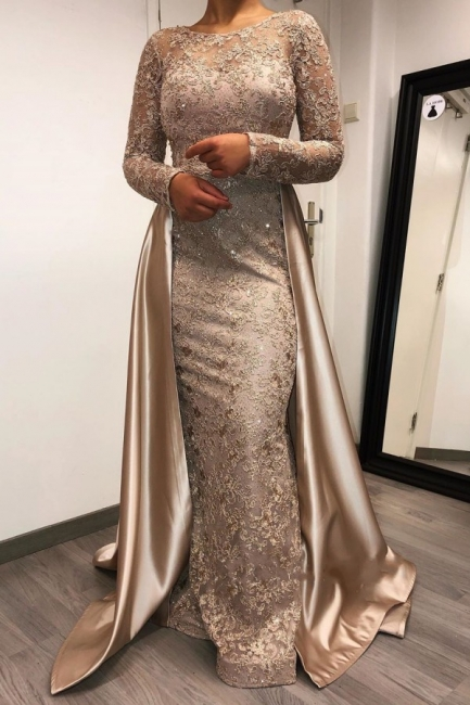 Designer evening dresses long with sleeves | Lace mother of the bride dresses cheap