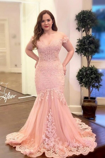 Evening dresses long pink | Prom dresses with lace