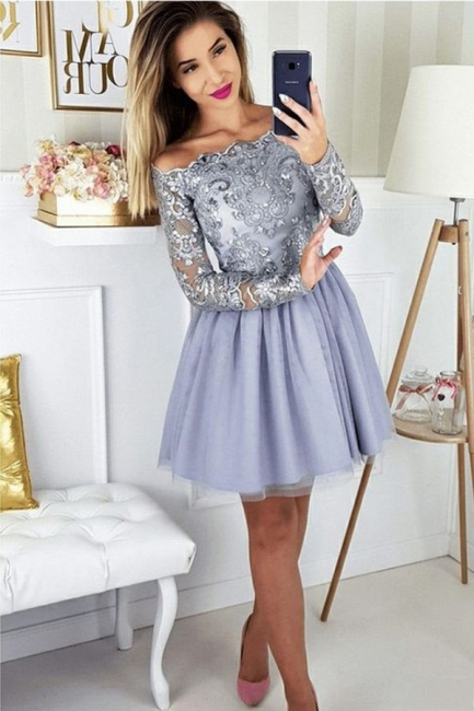 Cocktail dresses with sleeves | Short prom dresses glitter
