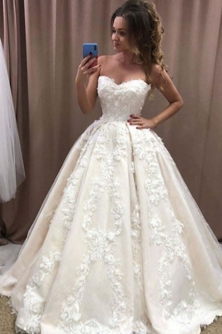 Elegant wedding dress princess | Beautiful wedding dress with lace