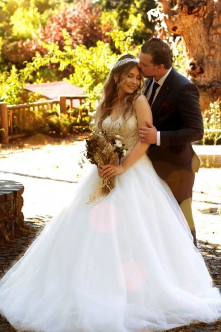 Gorgeous wedding dresses princess | Wedding dress with lace