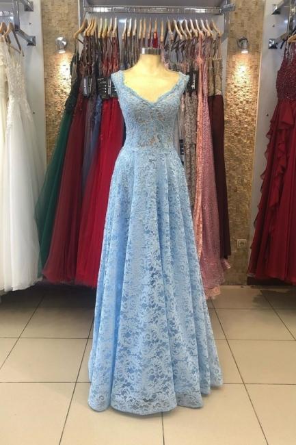 Heller Blaue Abendkleider Umstandsmode | Mascara Kleider mit Spitze