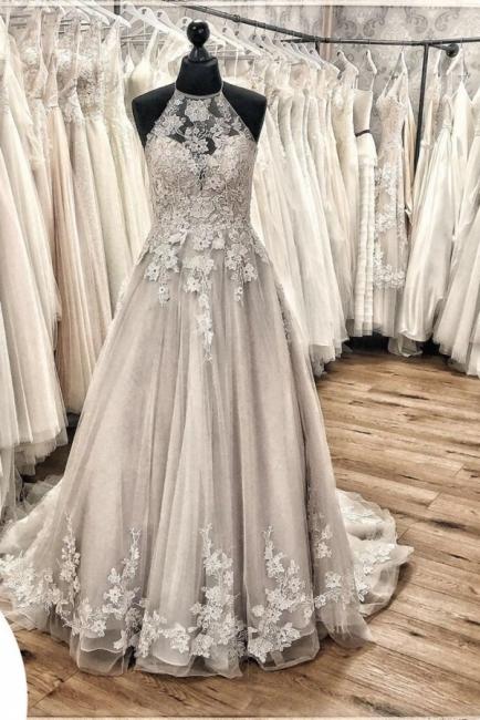 Designer wedding dress A line | Gorgeous wedding dresses with lace