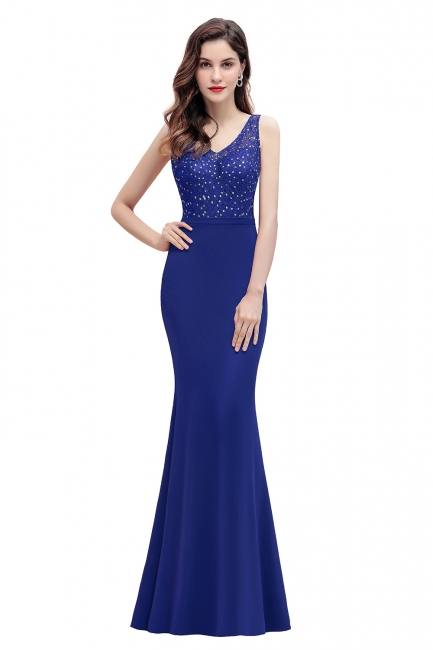 Elegante Abendkleider Lang V Ausschnitt   Abendmoden Online