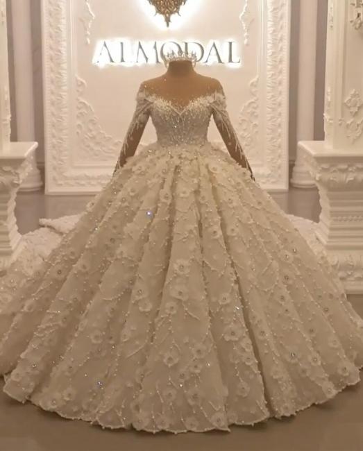 Luxury wedding dresses with long train order online wedding dresses