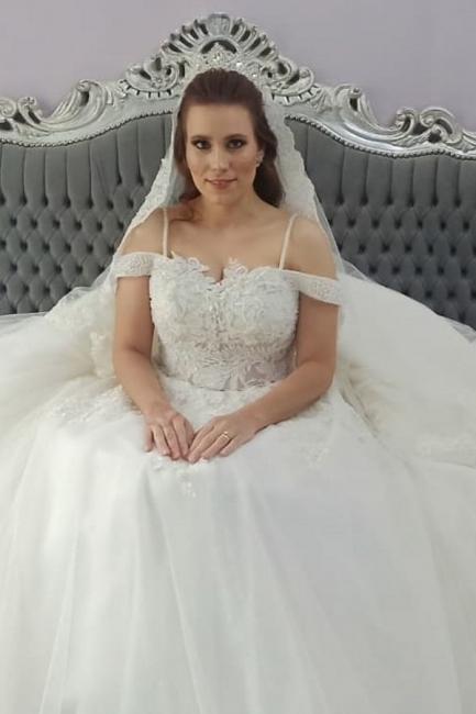 2021 Brautkleider Prinzessin | Hochzeitskleider mit Spitze