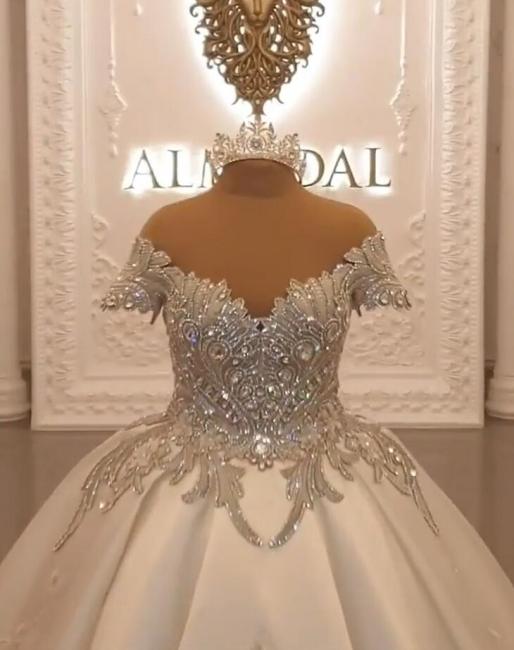 Prinzesin Brautkleider mit Ärmel | Satin Brautkleid Online Kaufen