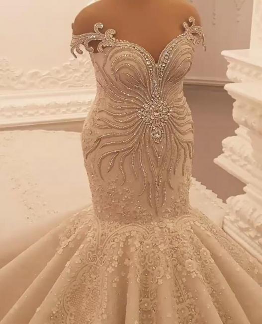 Beautiful mermaid wedding dresses | Vintage wedding dresses with lace