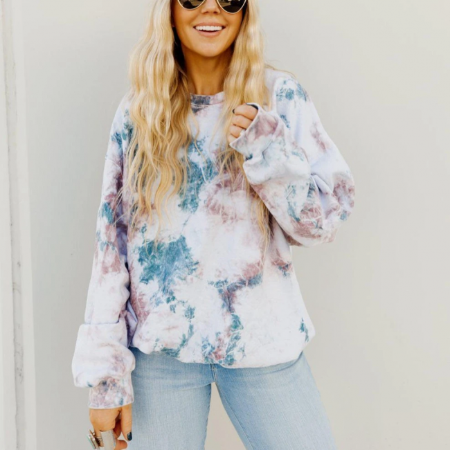 Floral pattern sweater | Sweatshirt knitted sweater women