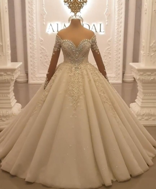 Luxury princess wedding dresses with lace bridal gowns cheap online