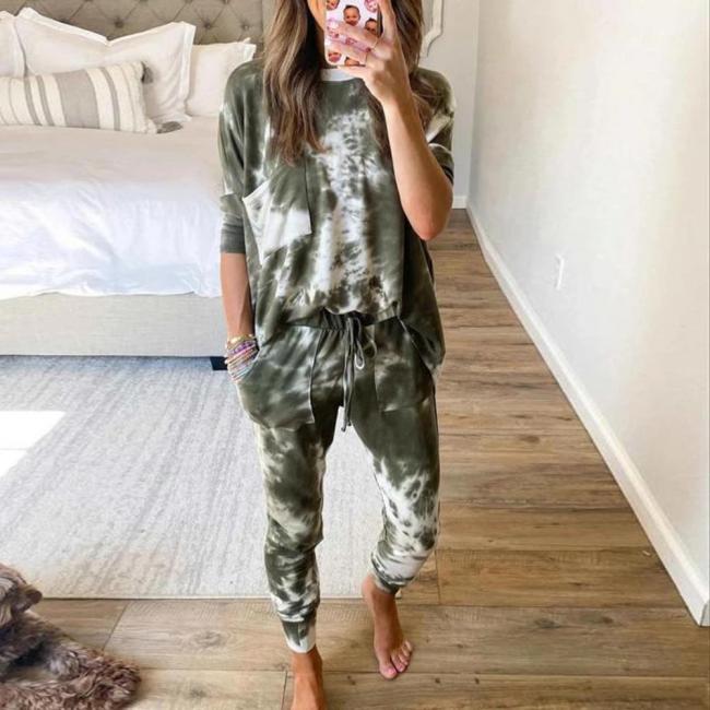 Pyjamahose Damen Print | Schlafanzug Damen Leopardenmuster