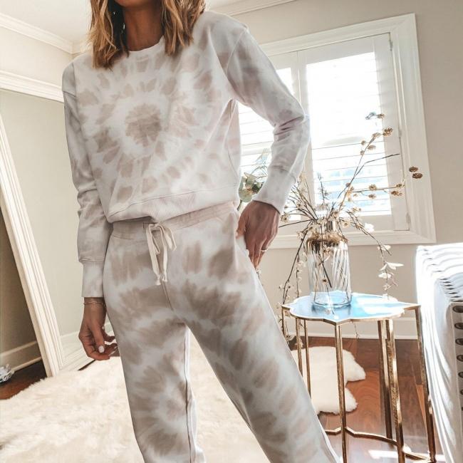Weißer Pyjama Damen | Schlafanzug Lang mit Bündchen