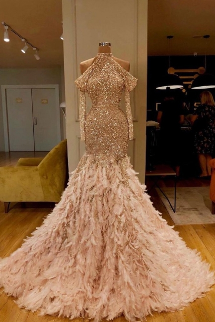 Evening dresses long with sleeves | Extravagant evening wear for women