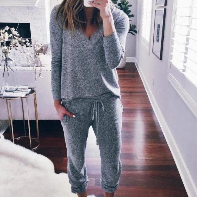 Warmer Winter Schlafanzug Damen | Schlafanzug Frauen