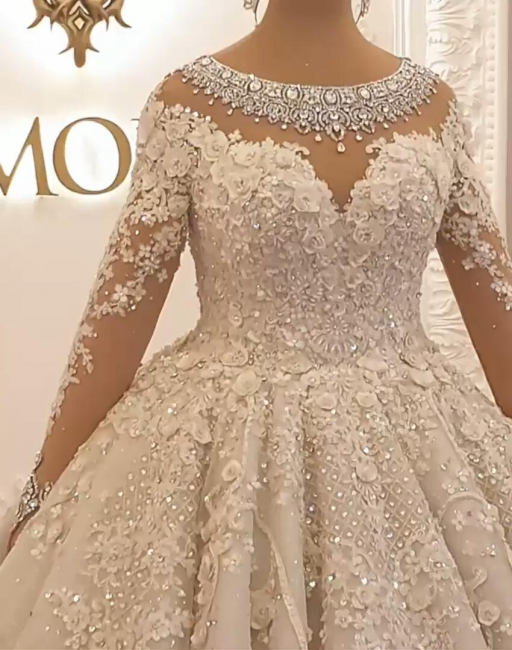 Beautiful wedding dresses princess | Wedding dress with lace