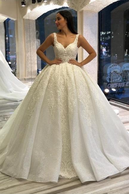 Designer wedding dresses princess | Wedding dresses with lace