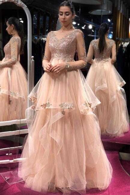 Elegante Abendkleider Lang Glitzer | Abiballkleider Online Kaufen