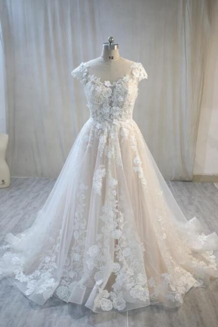 Elegant wedding dress A line with lace | Bridal wear online