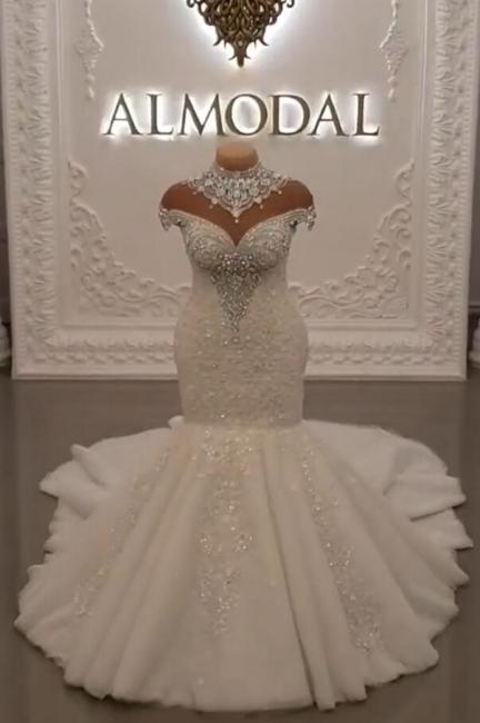 Luxus Brautkleider Spitze | Brautmoden Hochzeitskleider Meerjungfrau