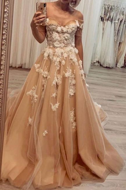 Long lace prom dresses | Buy elegant evening dress online