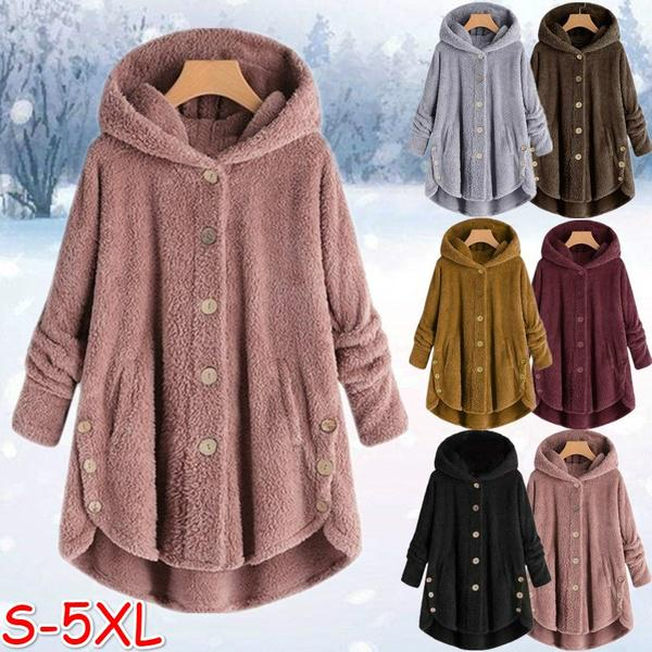 Long women's coat winter | Gray women's coats cheap