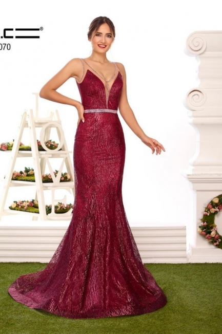 Designer evening dresses long glitter | Buy Red Prom Dresses