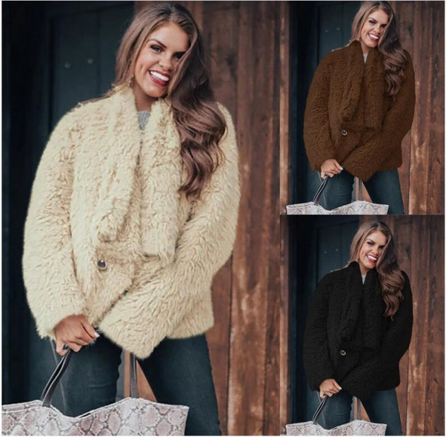 Damen Mantel Beige | Kurze Damenjacke Winter