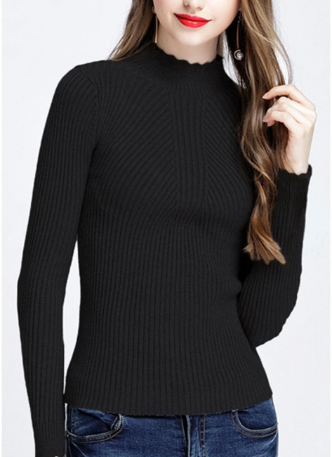 Hilfiger Sweater Black | Sweat jacket knitted sweater women