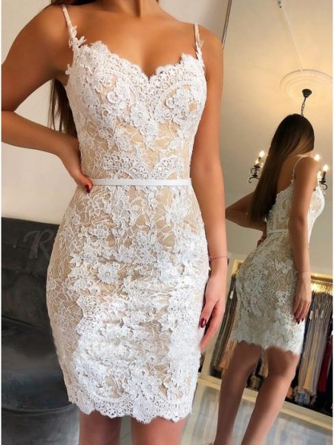 Fashion White Party Dresses Cocktail Dresses Lace Evening Dresses Short Cheap