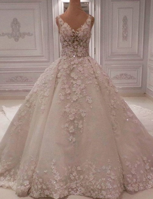 Beautiful luxury wedding dresses | Lace wedding dresses A line princess