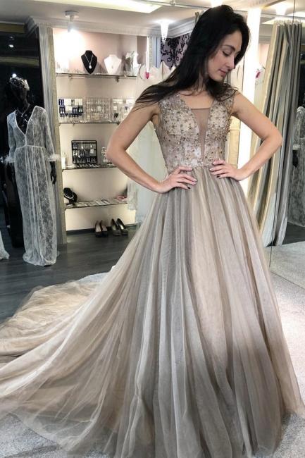 Elegant Evening Dresses Long V Neck | Evening wear online