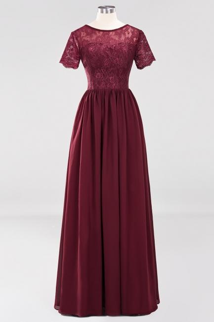 Elegant Bridesmaid Dresses Wine Red Chiffon Dresses Bridesmaids With Lace