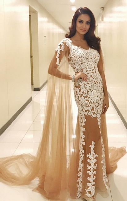 Champagne prom dresses cheap lace evening dresses prom dresses online